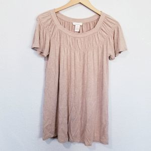 Sundance Short Sleeve Top Size XS Tan